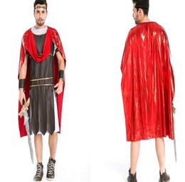 trajes romanos antigos Desconto Antigo Guerreiro Romano Trajes Masquerade Partido Homens Gladiadores Cavaleiro Júlio César Traje Adulto Cosplay Tema