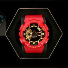 Wholesale Waterproof Boys Watch Green - New impact high quality fashion brand sports watch men waterproof big boy digital LED multi-function, multi zone time, box, free delivery.