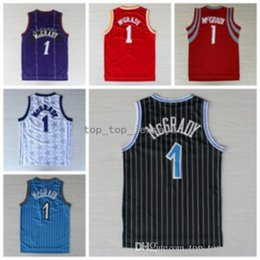Wholesale beige uniform - Best 1 Tracy McGrady Jersey Shirt Rev 30 New Material Tracy McGrady Uniforms Cheap Team Road Black Blue White Red Purple Quality
