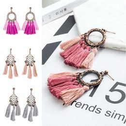 Wholesale Ship Chandelier For Sale - Bohemian 5 Style Tassel Earrings For Women Vintage Fringe Drop Earrings Party Wedding Jewelry 2017 Hot Sale Wholesale Free Shipping D927S