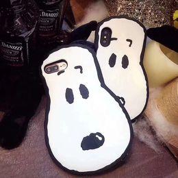 2019 nette telefonkoffer korea Korea neue heiße 3D netter Hund Silikon-Abdeckung für iPhone X 6 6SPlus Karikatur-Gummi-Telefon-Kasten für iPhone 8 7 Plus Schutzoberteil günstig nette telefonkoffer korea