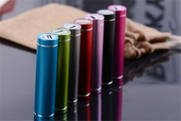Wholesale Cylinder Package - Gift Cylinder Power Bank External Backup Battery Charger Pack for Mobile Phones With Retail Packaging 100pcs lot