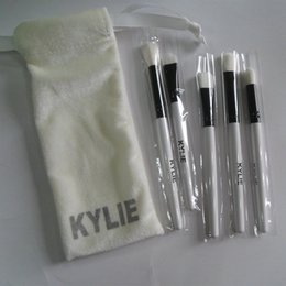 Wholesale make up for eyes - Kylie Jenner 5pcs Vacation Collection Highlighter Makeup Brushes Sets For Eyes Make Up With Bag Packing Wholesale