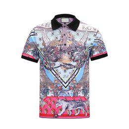 Wholesale breathable dress shirt - Summer European and American men's t - shirt short sleeve new lapel short sleeve t - shirt men's business casual fashion dress color complex