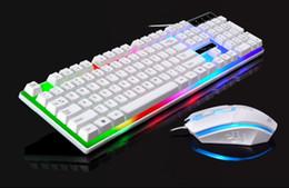 оконная клавиатура xp Скидка Проводной USB светящийся игровой ключ мышь компьютерная механическая ручка подсветка клавиатуры мышь пакет установлен интерфейс мыши USB режим работы фот