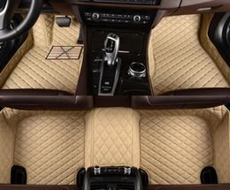 Wholesale Rear Floor Mats - Veeleo+Custom Fit - 6 Colors Leather Car Floor Mats for Ssangyong All Series Waterproof Anti-slip 3D Car Mats Front & Rear Carpets Line