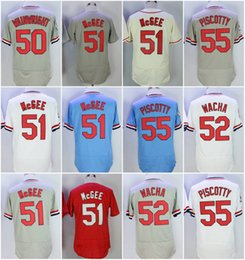 Wholesale Vintage 55 - 2017 Stitched Vintage Men's St. Louis Jersey 50 Adam Wainwright 51 Willie McGee 52 Michael Wacha 55 Stephen Piscotty Baseball Jerseys