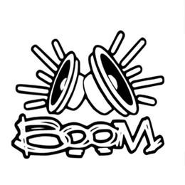 Wholesale Head Boom - 11.9cm * 10cm Boom Funny Car Window Bumper JdM Vinyl Decal Sticker Motorcycle Decoration Adhesives