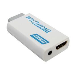 HDMI Wii2HDMI Full HD FHD 1080P конвертер адаптер 3,5 мм аудио выход Джек cheap 3.5mm audio output от Поставщики 3,5-мм аудиовыход
