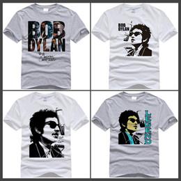 Wholesale Silver Star Tees - Bob Dylan T Shirt White Color Short Sleeve Fashion Star Bob Dylan Logo T-shirt Tops Tees tshirt For Men Women