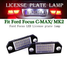 ford c max Скидка 2 шт. / Лот Фонарь освещения Номерного знака Для Ford Focus C-Max 24 SMD-3528 СВЕТОДИОДНЫЕ Авто Лампы Номерного Знака Авто Огни Номерного Знака Для Ford Focus MK2
