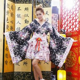 2019 kimono japonés caliente Nueva moda de sangre caliente japonés Kimono Cosplay Lolita Anime Maid Uniforme traje trajes de vestir vestido de moda Cosplay Anime LB kimono japonés caliente baratos
