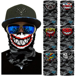 Outdoor Triangle Scarf Colorful Face Mask Graffiti Camouflage Skeleton Printing Motorcycle Cycling Bandana Neck Warmer Men's Accessories