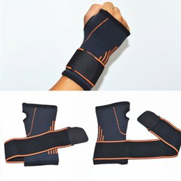Wholesale weight lifting wrist support wraps - Wrist Support Braces Adjustable Athletic Wrist Wrap Bracer for Weight Lifting Strength Training Carpal Tendonitis Wrist Pain Free DHL G447S