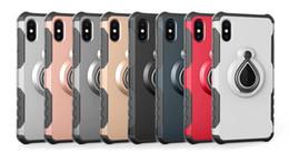 samsung galaxy note fundas para celulares Rebajas Para Iphone X 8 7 6S Plus Samsung Galaxy Note 8 S8 Plus Raindrop Magnetic Armor 360 Kickstand Heavy Duty Cell Phone Cases