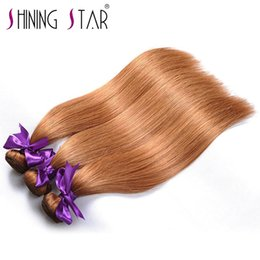 wavy permed hair Promo Codes - Shining Star Wholesale Natural Virgin Raw Straight Wavy 7A 8A 9A 10A virgin Unprocessed 5a 6a 7a virgin bolivian and Brazilian hair