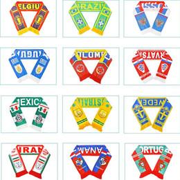 Schalsteams online-Russland-Weltcupfußballfan Schal von Fußball-Nationalmannschaft-Schal-Flaggen-Fahnen-Cheerleader-Schal 120pcs / lot T2I155