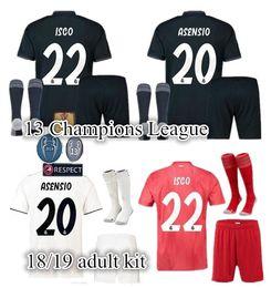 91634f916 Champions League 2018 2019 Real Madrid Home Adult soccer Jerseys 18 19  RONALDO SERGIO RAMOS BALE RAMOS ISCO MODRIC Benzema football shirts  discount real ...