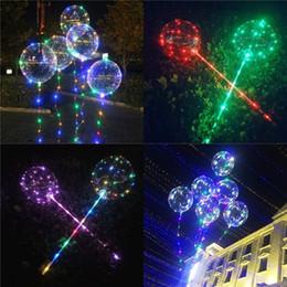 Luminous Bobo Balloons LED Licht Ballon 20 zoll Ballon Für Hochzeit Festival Flash Dekorationen Spielzeug Freies DHL 648 von Fabrikanten