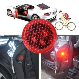Wholesale car door anti collision - 4Pcs RGB Car Door Light LED Flash Warn Lamp Universal Car Auto Strobe Traffic Lights Anti Collision Magnetic Control Car-styling