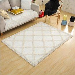 projeto do algodão da porta Desconto Algodão simples mão macia tecido Design tapetes para sala de estar quarto Kid quarto tapetes casa tapete tapete de chão delicado tapete área tapete