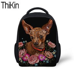 2625e0ef66cc THIKIN Kids Baby Mini Backpack for Kindergarten Children Chihuahua Printing  School Bags Girls Cute Shoulder Softback Satchel