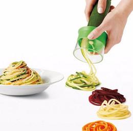 Wholesale Vegetable Spiralizer - Vegetable Handheld Spiralizer Slicer Cutter Graters Hand Held Noodles Spaghetti Pasta Maker Kitchen Tools Vegetable Slicer 300Pcs