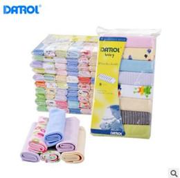 Wholesale Infant Washcloths - 8 Pack Baby Washcloths 2018 Boys and Girls Bath Face Towels 100% Cotton Cartoon Feeding Bibs Newborn Baby Infant Toddler Baby Nursing Towels