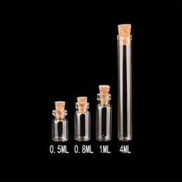 Lindos colgantes de vidrio Mini botellas con corcho vacío pequeño que deseen botella decoración artesanías frascos de vidrio tarros 100 unids envío gratis desde fabricantes