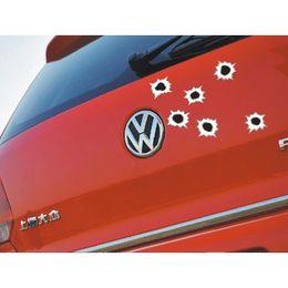 2019 отверстия для пулевых отверстий автомобиля 5 Шт. Автомобилей Наклейки 3D Bullet Hole Забавные Наклейки Авто чехлы Мотоцикл Царапинам Реалистичные Bullet Hole Водонепроницаемые Наклейки дешево отверстия для пулевых отверстий автомобиля