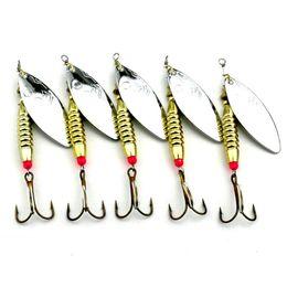 LENPABY 5PCS Lures Spinners,Spinnerbaits metal fishing spoons bait 6.5cm Blade Spinner Baits6g spinner baitFishing Lures Bass Spoon Crank Bait Saltwater,Freshwate Tackle Hooks