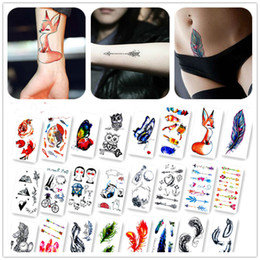 Wholesale Men Body Paint - New Arrival Colorful Painting Animals Fake Flash Sexy Body Art Temporary Tattoo Stickers For Man Woman
