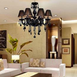Fesselnd 2018 Lampenlounge Led E14 Europäischen Schwarz Kristall Kronleuchter LED  Licht Lampe Für Foyer Schlafzimmer Esszimmer Lounge