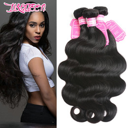 Wholesale Hair Drop Shipping - Brazilian Malaysian Indian Peruvian Human Hair 3 Bundles Body Wave 30-36inch Double Hair Wefts Weaves 95-100g piece Dropping Shipping