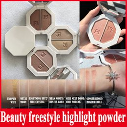 Wholesale Crystal Moons - Beauty freestyle highlight powder Killawatt Freestyle Highlighter Palette 6 Colors TROPHY WIFE Metal Moon LIGHTNING DUST FIRE CRYSTAL DHL
