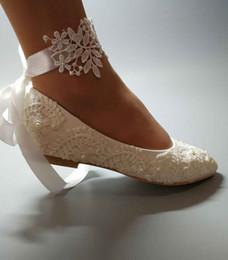 Main Femmes Blanc Chaussures De Mariage plat ballet Dentelle Fleur Chaussures De Mariée Chaussures De Demoiselle D'honneur De Mariage Dresssize EU35-42 ? partir de fabricateur