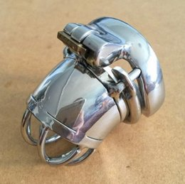 "smallest chastity cages Canada - New Design 51mm Length Metal Stainless Steel Super Small Male Chastity Device with Version 2.44"" Short Screw Cock Cage For BDSM"