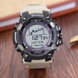 Ver gas online-Big Dial Digital impermeable LED masculino de choque Relojes de pulsera Hombres PRW Sports Electronic cronógrafo reloj de pulsera ga 100 110 hombres g reloj