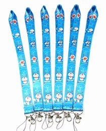 doraemon key Coupons - Cartoon Doraemon Cell Mobile Phone key Lanyard id badge holder keychain straps for mobile phone E-Cigarette Work ID Card