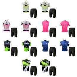 Wholesale merida blue - 2018 New style MERIDA pro team cycling short sleeve sleeveless Jersey bicycle shorts summer mens bike cycling clothes MTB sportswear F2907