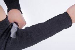перчатки срезанные Скидка 2PCs/ Pair Cut Outdoor Self Defense Arm Guard Against Glass Knife Cut Steel Mesh Gloves Cuff Resistant Protective Safety Sleeves