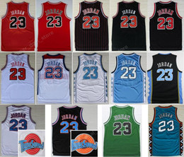 Wholesale Basketball Jersey Usa - Sale Space Jam Jersey 23 Michael Throwback Basketball North Carolina College TUNESQUAD Squad Space Big Dunk Team Dream USA 96 98 All Star