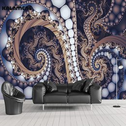 Wholesale Paper Sphere - KALAMENG 3D Mural Wallpapers Custom Painting Abstract Sphere Design Background Bedroom Living Room Wall Murals Papel De Parede