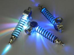 Nuovo arrivo colorato tubo di tabacco in metallo tubi di fumo accessori per fumare tubi di acqua vetro fumo tabacco tubo trasporto veloce da cliccare su verde fornitori