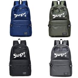 Wholesale Girls Canvas School Bags - Luxury brand canvas leather designer backpack handbags men Backpack Laptop Knapsack Waterproof 4 colors girl Women school book Bag 180105003