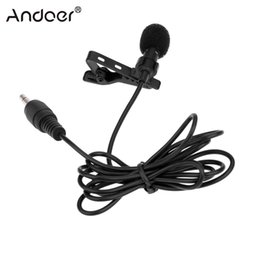 Wholesale Microphone Collar - Andoer Super Lapel Lavalier Microphone Tie Clip Microfone Metal Mono Microphone 3.5mm with Collar Clip Mic for Lound Speaker