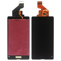 Wholesale Lcd Panel 15 - Free Shipping Dhl 15 Pcs Black LCD Display Touch Screen With Digitizer Full Assembly For Sony Xperia Z1 Mini Compact Z1c M51w D5503