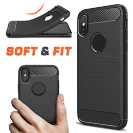 Wholesale Pro Mates - For Samsung A7 2018 Carbon Fiber Case Rugged Armor Cover for iPhone X 8 7 LG Q6 Huawei Mate 10 Pro Opp