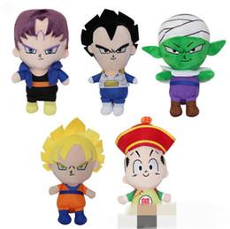 Wholesale kid gohan toys - 5 Styles 35cm Dragon Ball Z Plush Toys Son Goku Son Gohan Vegeta Dragon Ball Plush Pendant Toys CCA9551 50pcs