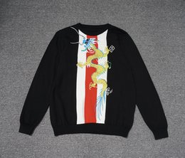 Wholesale embroidery belt - Top quality Italy Luxury Sweaters Dragon Embroidery High street fashion clothing black MW248